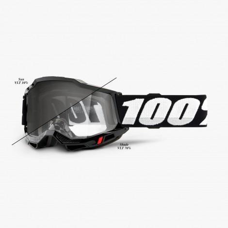 100% GOGGLES Accuri 2 OTG UTV/ATV SAND/OTG - BLACK / Photochromic Lens