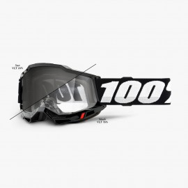 100% GOGGLES Accuri 2 WOODS - BLACK / Photochromic Lens