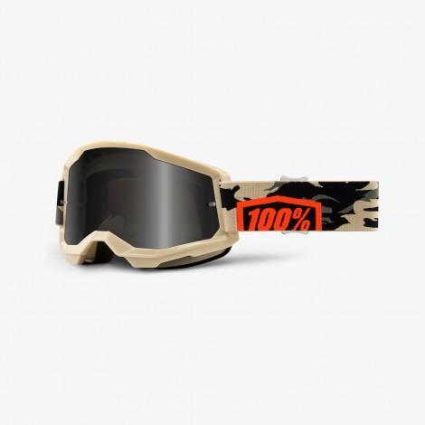 100% GOGGLES Strata 2 - SAND Smoke Lens